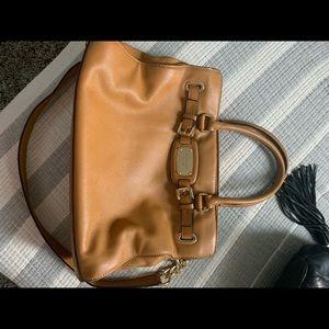 Leather bag shoulder or hand bag